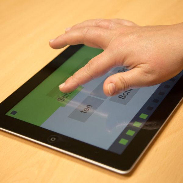 Sprachübungen am Tablet/ PC